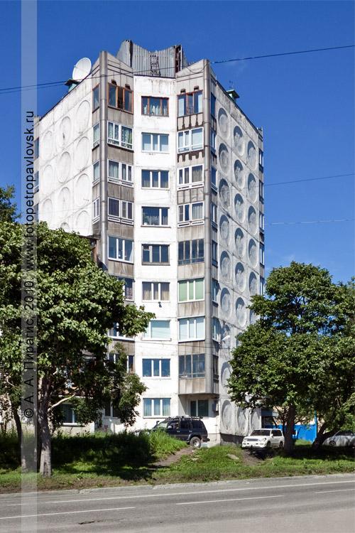 Фотография: многоэтажный (девять этажей) дом в Петропавловске-Камчатском (улица Пограничная)