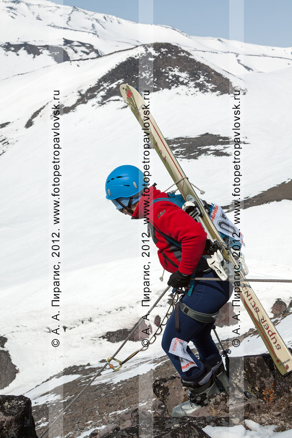 Фотография: ски-альпинизм, командная гонка. Полуостров Камчатка, Авачинский перевал