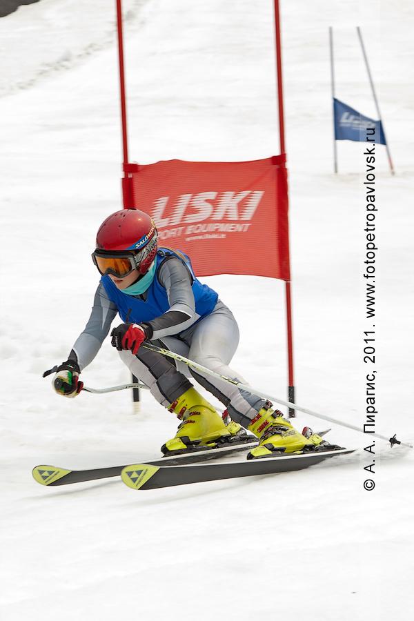 Фотография: летние соревнования по горнолыжному спорту (гигантский слалом) на Авачинском вулкане