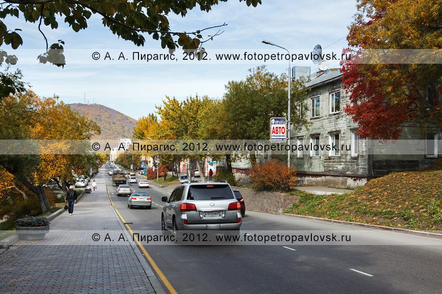 Фотография: осенний Петропавловск-Камчатский, дорога по улице Советской в столице Камчатского края
