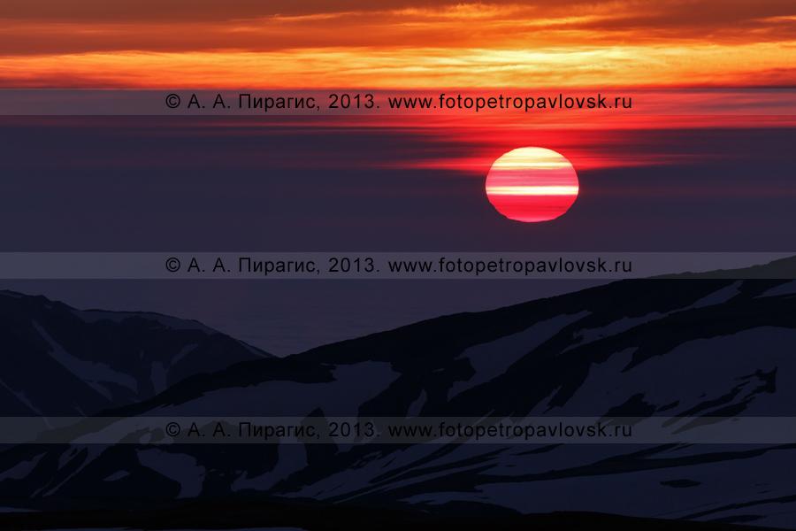 Фотография: камчатский пейзаж — восход солнца в горах. Полуостров Камчатка