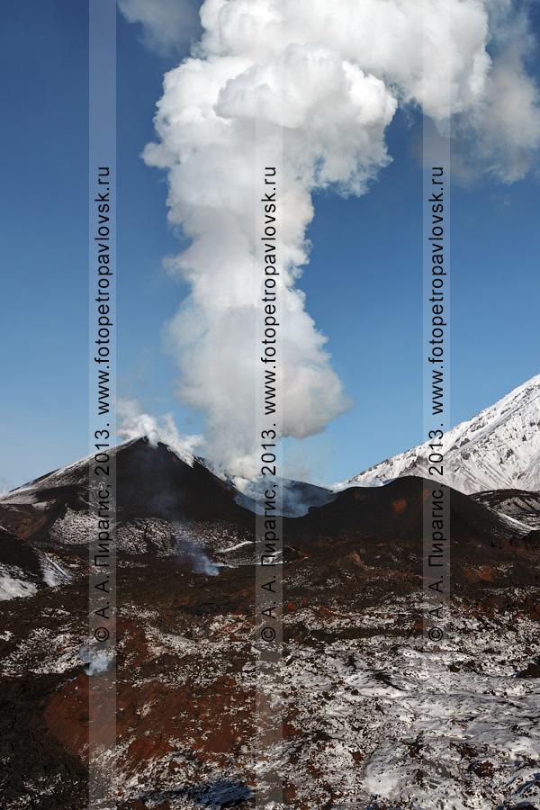 Фотография: извержение вулкана Плоский Толбачик в Камчатском крае
