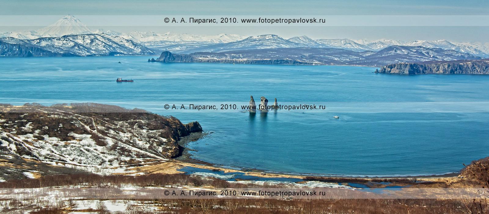 Фотография панорама скалы три брата