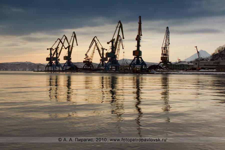 Фотография: причал угольного терминала, Петропавловск-Камчатский морской торговый порт. Мыс Сигнальный