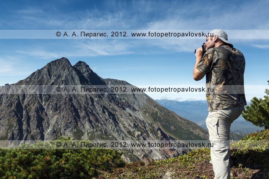 Фотография: камчатский фотограф снимает горы на полуострове Камчатка