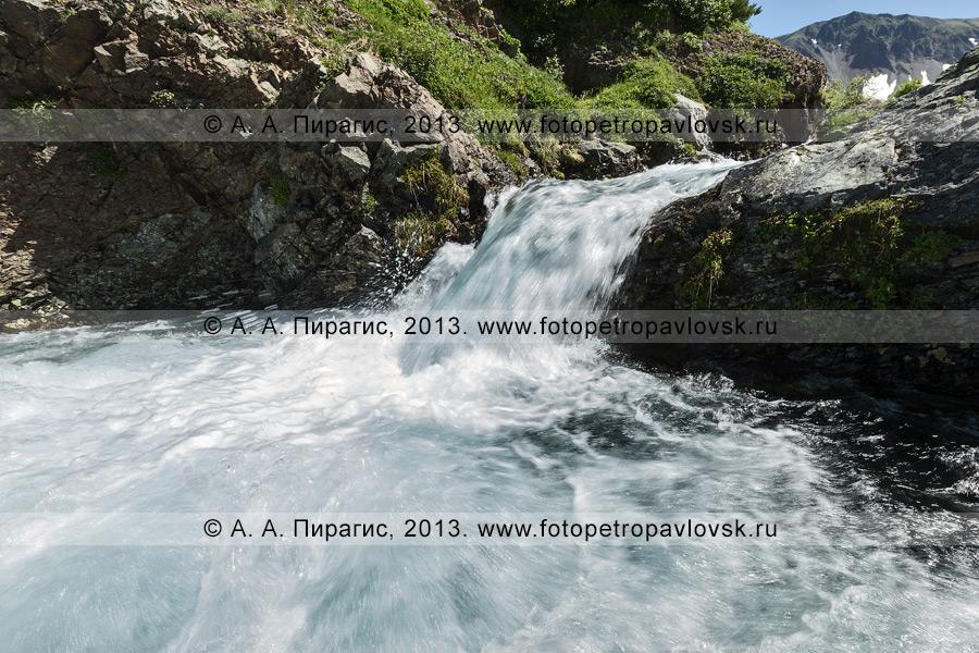 Фотография: камчатский пейзаж — река Такхолоч в горном массиве Вачкажец на Камчатке