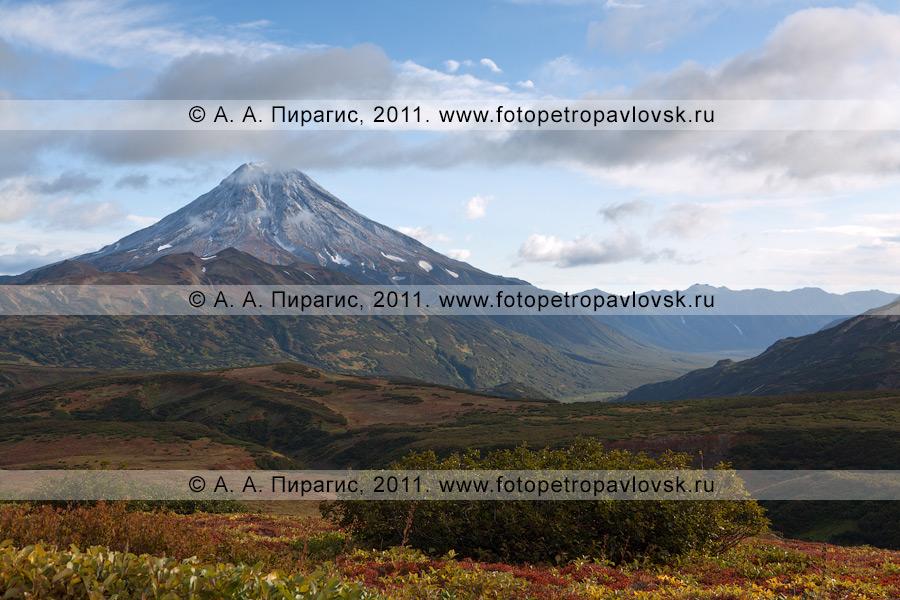 Фотография: камчатский пейзаж — вид на Вилючинский вулкан (Вилючинская сопка). Камчатский край