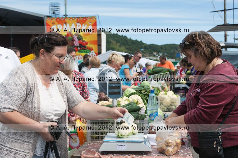 Фотография: торговля овощами на сельскохозяйственной ярмарке