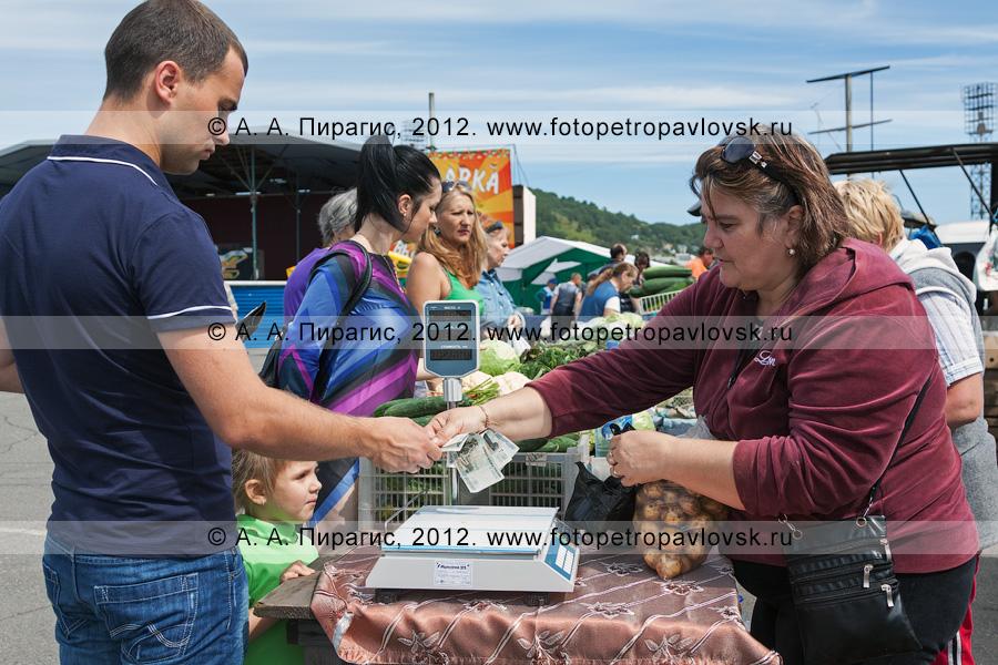 Фотография: торговля на сельхозярмарке в городе Петропавловске-Камчатском