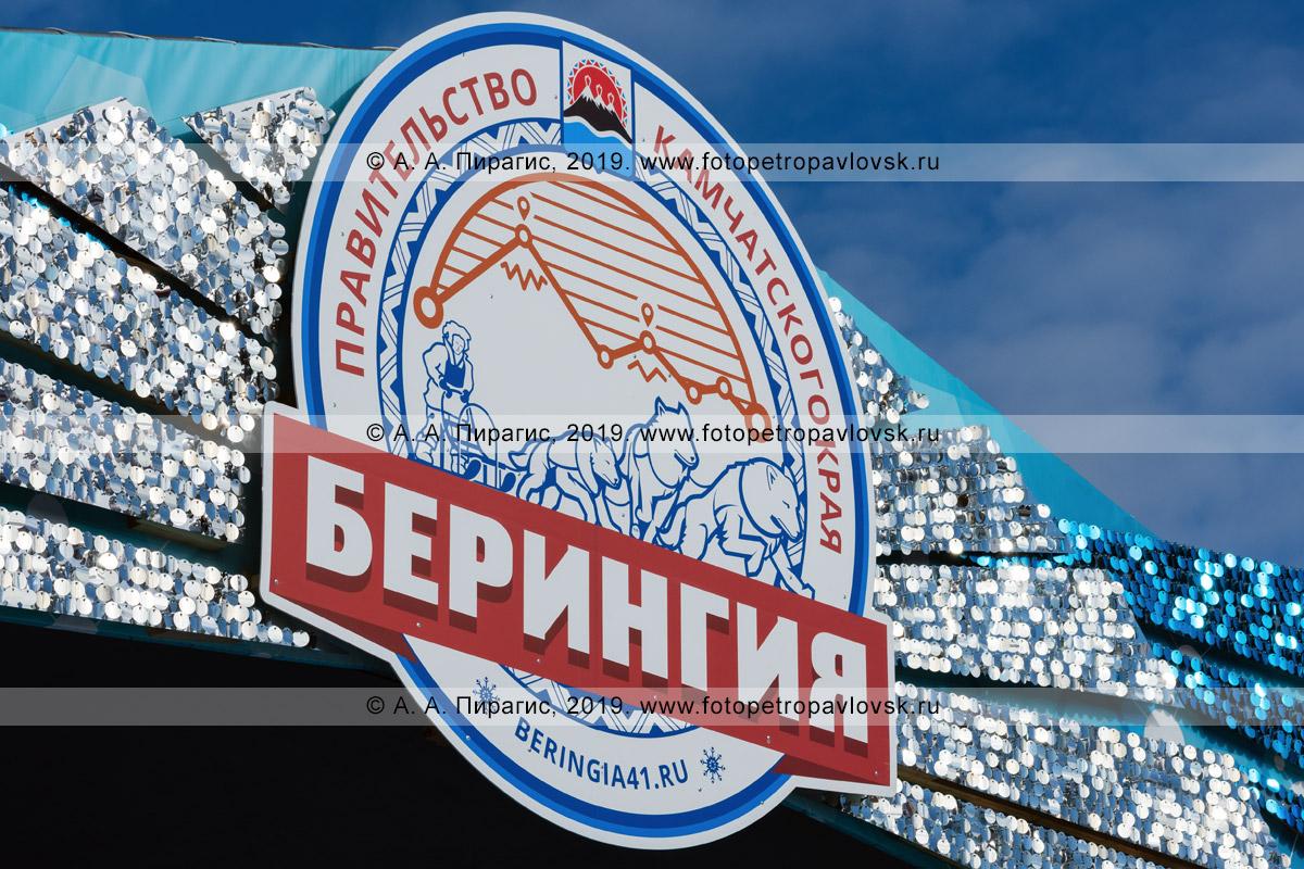Фотография: логотип, эмблема традиционной камчатской гонки на собачьих упряжках «Берингия» на полуострове Камчатка