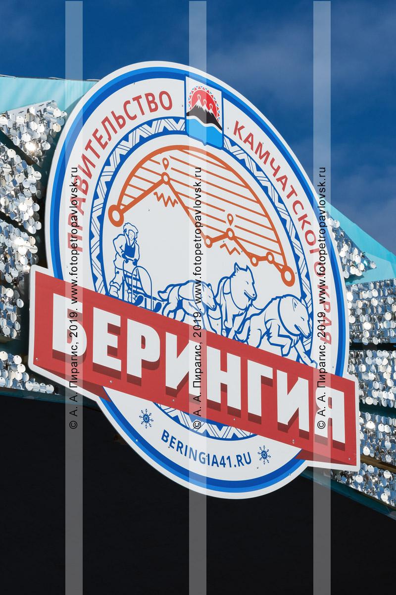 Фотография: эмблема, логотип камчатской традиционной гонки на собачьих упряжках «Берингия»