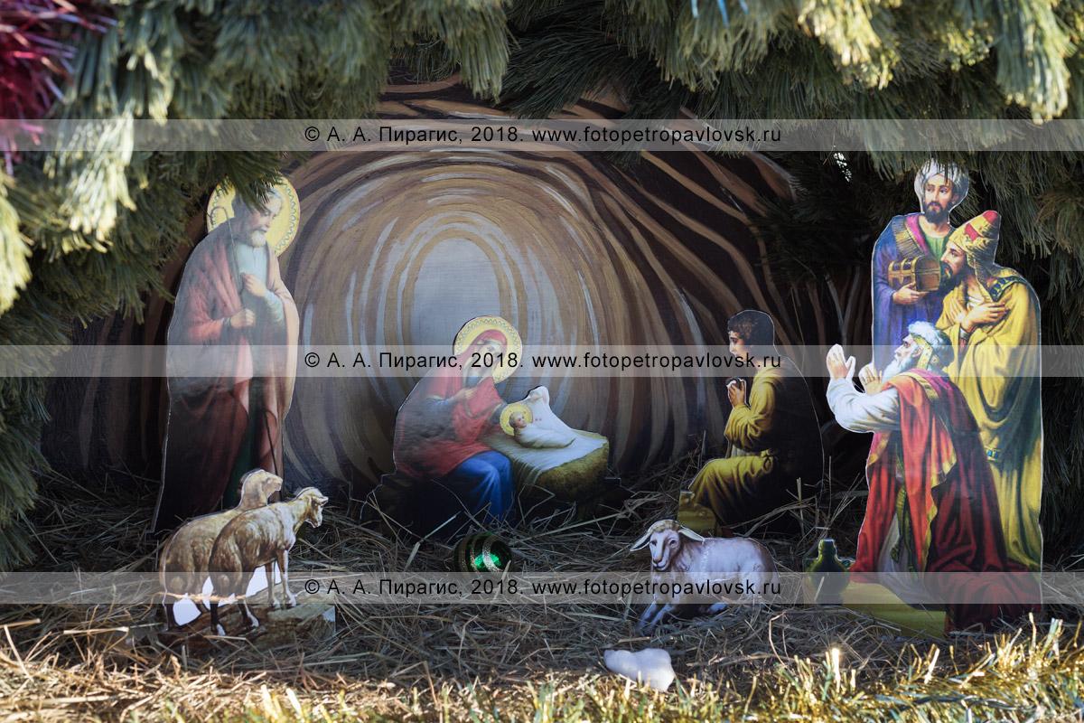 Фотография: рождественский вертеп — воспроизведение сцены Рождества Иисуса Христа