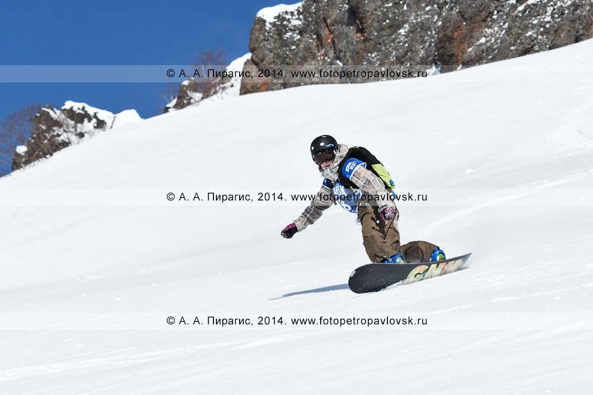 """Фотография: соревнования среди горнолыжников и сноубордистов по фрирайду """"Kamchatka freeride Open Cup — 2014"""". Полуостров Камчатка, Начикинский перевал"""