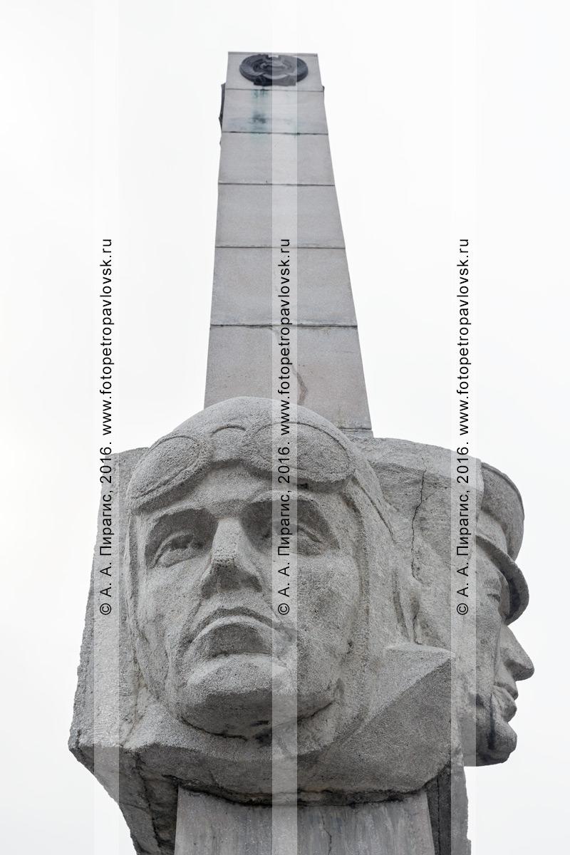 Фотография: фрагмент монумента Славы пограничникам Камчатки в городе Петропавловске-Камчатском. Камчатский край