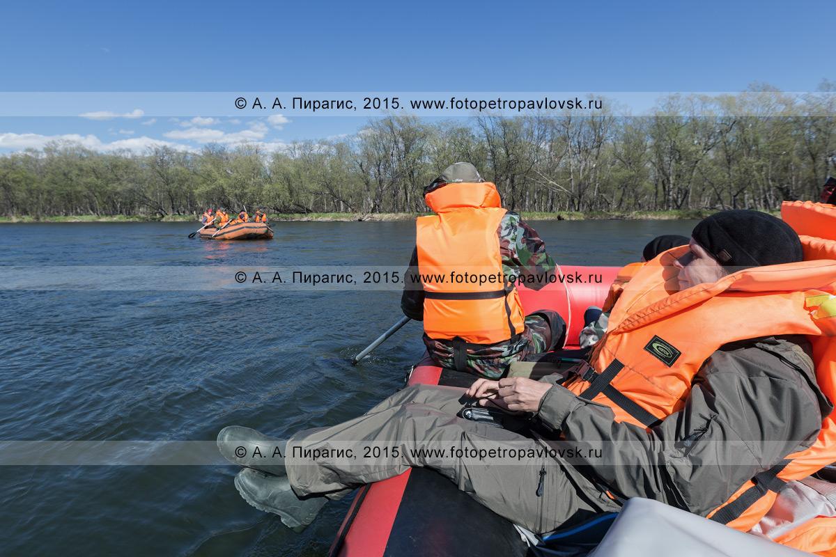 Фотография: водный туризм на Камчатке — сплав на рафте по реке Быстрой (Малкинская)