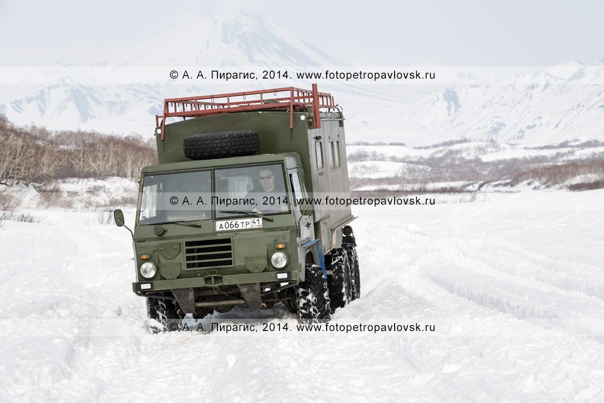 Фотография: автомобиль Volvo Laplander C304 (6 x 6) — военный транспорт армии Швеции повышенной проходимости