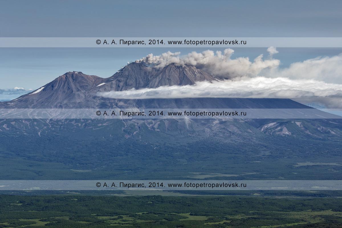 Фотография: Жупановский вулкан (Zhupanovsky Volcano) — действующий (активный) вулкан на полуострове Камчатка
