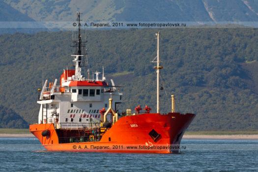 """Фотографии танкера танкера """"Алиса"""" в Авачинском заливе на полуострове Камчатка"""