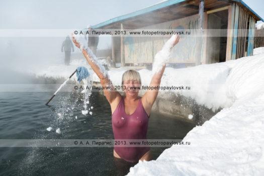 Бассейн с термальной водой. Село Анавгай, Быстринский район, Камчатский край
