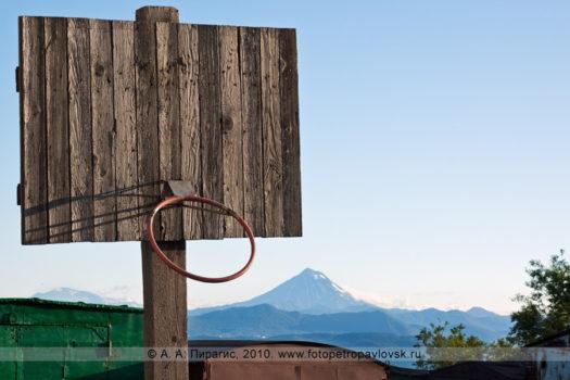 Баскетбольный щит в городе Петропавловске-Камчатском