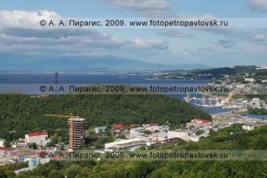 Фотография исторического центра города Петропавловска-Камчатского