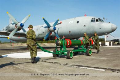 """Фотографии: унифицированная малогабаритная торпеда УМГТ-1 """"Орлан"""", противолодочного самолета Ил-38"""
