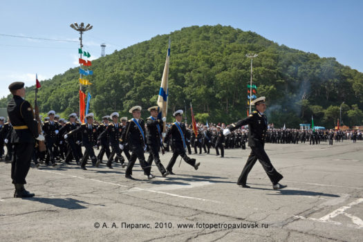 Фоторепортаж: празднование Дня ВМФ России на Камчатке. Военный парад в городе Петропавловске-Камчатском