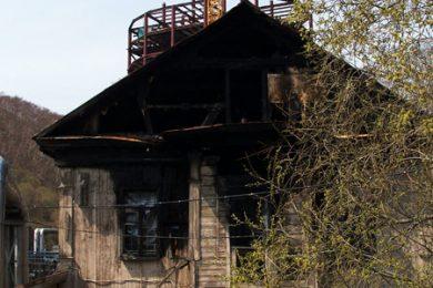 Фотография дома камчатского купца Подпругина в историческом центре города Петропавловска-Камчатского