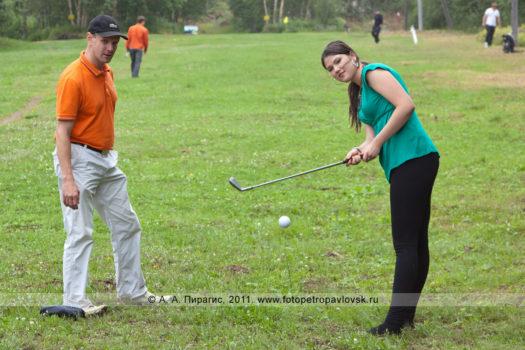 Спортивный фоторепортаж: соревнования по гольфу в городе Петропавловске-Камчатском