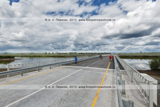 Река Камчатка. Мост через реку Камчатку, 168-й километр дороги Мильково — Ключи — Усть-Камчатск