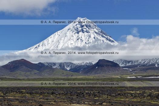 Фотографии вулкана Камень (Kamen Volcano) на полуострове Камчатка