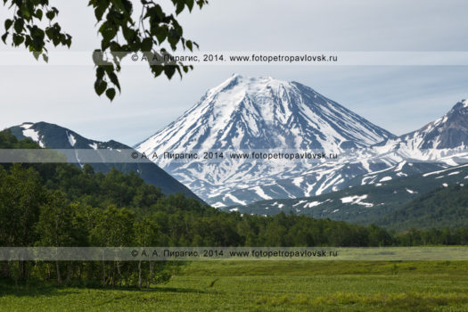 Фотография вулкана Корякского на полуострове Камчатка