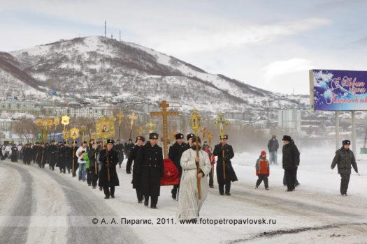 Фоторепортаж: Рождественский крестный ход в городе Петропавловске-Камчатском