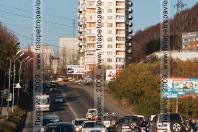 Фотография шестнадцатиэтажки в городе Петропавловске-Камчатском