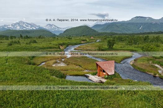 Фотография: камчатский пейзаж в Налычево — река Горячая, Горячереченские термальные источники