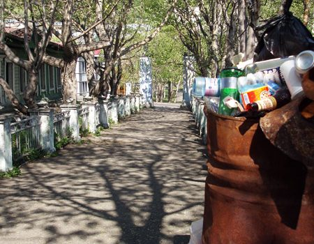 Фотография: аллея, ведущая на Никольскую сопку в городе Петропавловске-Камчатском