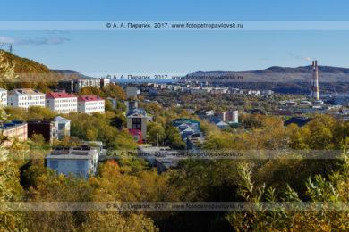 Фотография (панорама): Камчатский край, город Петропавловск-Камчатский, улица Океанская, улица Капитана Драбкина, Камчатская ТЭЦ-1