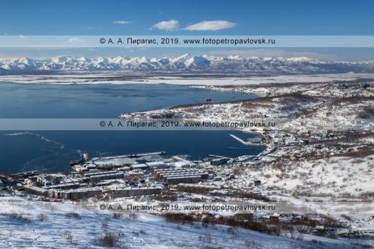 Панорамная фотография микрорайона Сероглазка города Петропавловска-Камчатского.