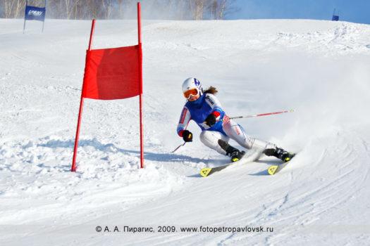 Спортивный фоторепортаж: чемпионат Камчатского края по слалому-гиганту