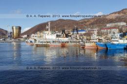 Фотография: город-порт Петропавловск-Камчатский, суда, стоящие в петропавловском порту. Камчатский край
