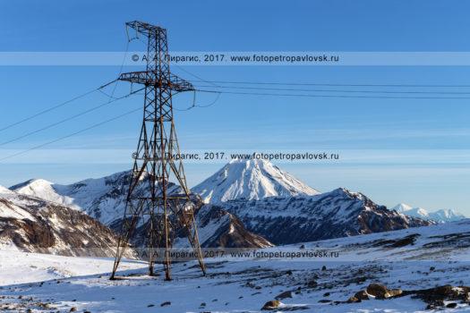 Фотография: высоковольтная линия электропередачи Мутновская ГеоЭС — Центральный энергоузел Камчатского края