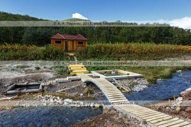 Фотография Таловских термальных источников в Налычевской долине на полуострове Камчатка