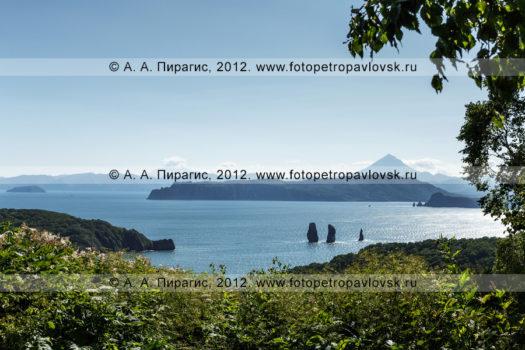 Фотографии: вид на Скалы Три Брата в Авачинской губе (Авачинская бухта). Полуостров Камчатка
