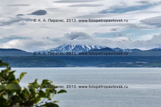 Фотография: вид на Авачинскую губу (бухту) и Вилючинский вулкан из города Петропавловска-Камчатского