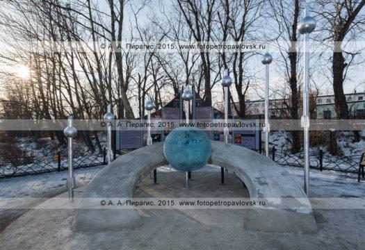 """Фотография: камчатский монумент """"Космический указатель"""". Поселок Вулканный (Вулканное городское поселение), Елизовский район, Камчатский край"""