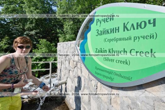 Фотографии ручья Зайкин Ключ (Серебряный ручей) на полуострове Камчатка
